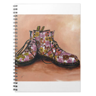 A Pair of Favourite Floral Boots Note Book