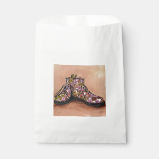 A Pair of Floral Dr Martins Boots Favour Bags