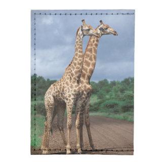 A Pair Of Giraffes On Road, Kruger National Tyvek® Card Case Wallet