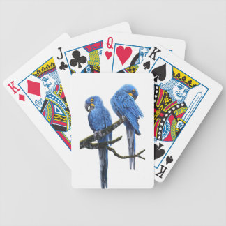 A Pair of Hyacinth Macaws Bicycle Playing Cards