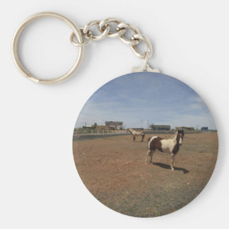 A Pair Of Paint Horses Basic Round Button Key Ring