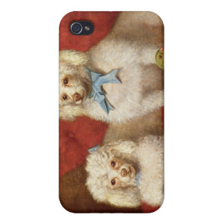 A Pair of Poodles iPhone 4 Cases
