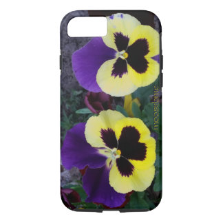 A Pair of Purple and Yellow Pansies iPhone 8/7 Case