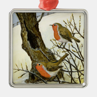 A Pair of Robins Christmas Ornament