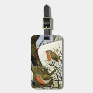 A Pair of Robins Luggage Tag