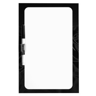 A pair of roses in black dry erase board