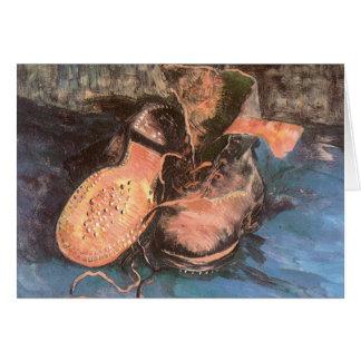 A Pair of Shoes by Vincent van Gogh, Vintage Art Card