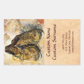 A Pair of Shoes Vincent van Gogh fine art painting Rectangular Sticker