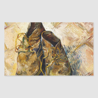 A Pair of Shoes Vincent van Gogh fine art painting Rectangle Sticker