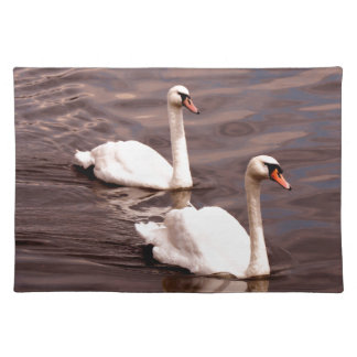 A pair of Swans on the lake Placemat