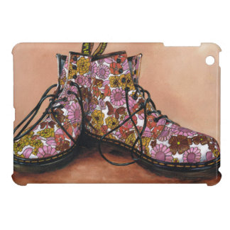 A Pair of Treasured Flowery Boots Cover For The iPad Mini