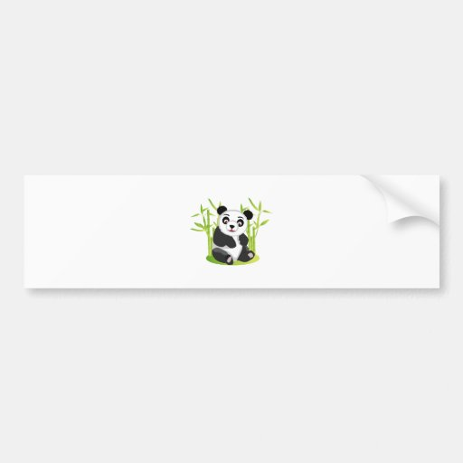 A Panda and his Bamboo Bumper Stickers