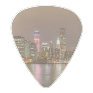 A panorama of the New York City skyline Acetal Guitar Pick