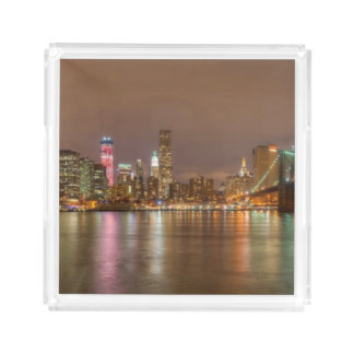 A panorama of the New York City skyline Acrylic Tray