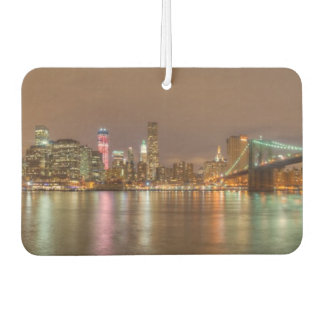A panorama of the New York City skyline Car Air Freshener