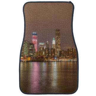 A panorama of the New York City skyline Car Mat