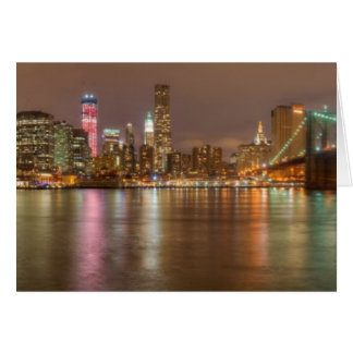 A panorama of the New York City skyline Card