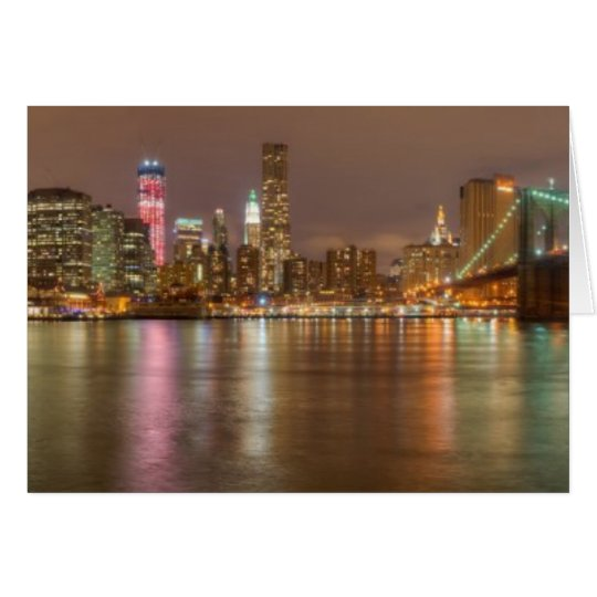 A panorama of the New York City skyline