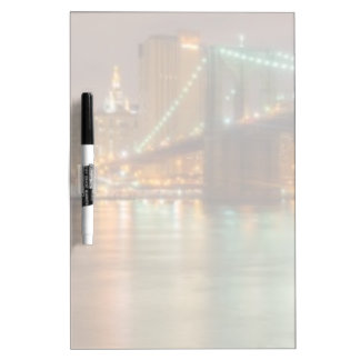 A panorama of the New York City skyline Dry Erase Board