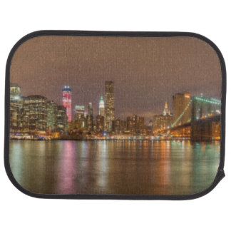 A panorama of the New York City skyline Floor Mat