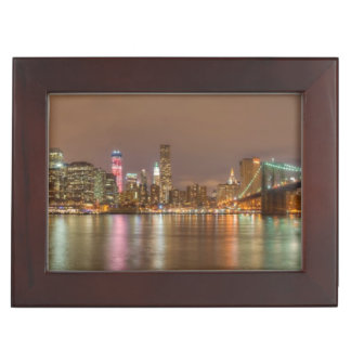 A panorama of the New York City skyline Keepsake Box