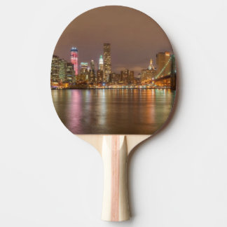 A panorama of the New York City skyline Ping Pong Paddle
