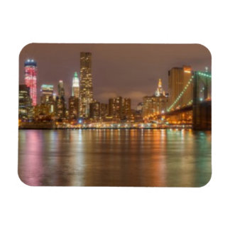 A panorama of the New York City skyline Magnets