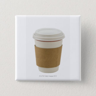 A paper coffee Cup 15 Cm Square Badge