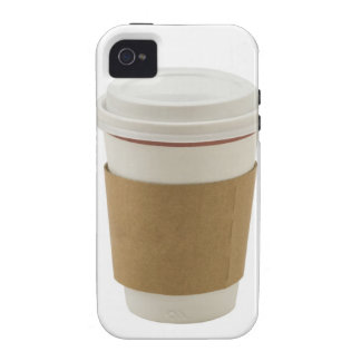 A paper coffee Cup Vibe iPhone 4 Case