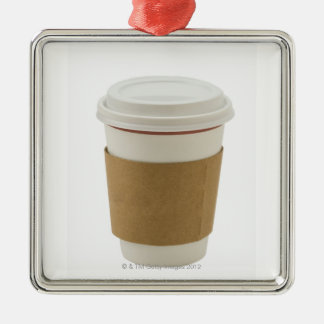 A paper coffee Cup Christmas Ornament