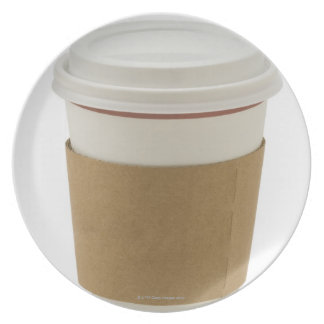 A paper coffee Cup Dinner Plates