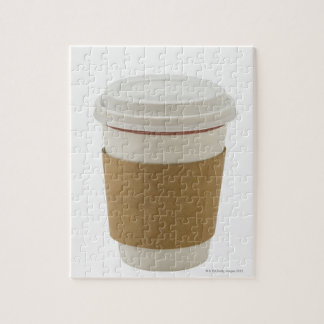 A paper coffee Cup Jigsaw Puzzle