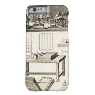 A paper marbler's workshop and tools, from the 'En Barely There iPhone 6 Case