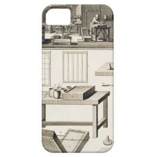 A paper marbler's workshop and tools, from the 'En Case For The iPhone 5