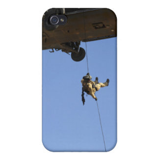 A pararescueman rappels from an HH-60 iPhone 4/4S Cases