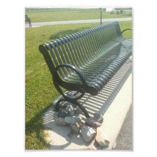 A park bench photo.