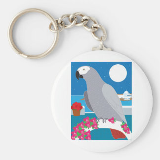 A Parrot in Paradise Key Ring