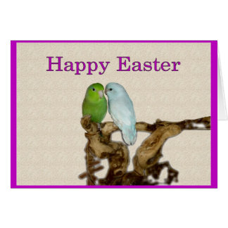 A parrotlet Happy Easter Greeting Card