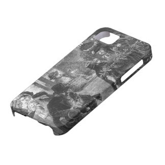A part of guests arrives to visit old folk iPhone 5 covers