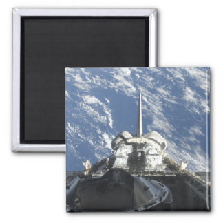 A partial view of Space Shuttle Atlantis Square Magnet