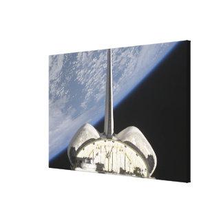 A partial view of Space Shuttle Endeavour Canvas Print