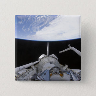 A partial view of the Tranquility node 15 Cm Square Badge