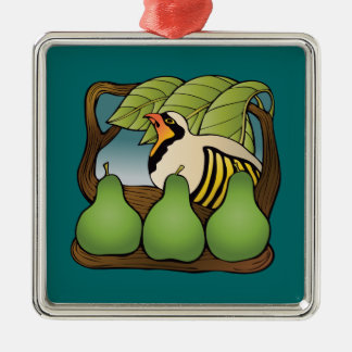 A partridge in a pear tree christmas ornament