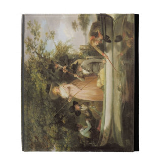 A Party Angling (oil on canvas) iPad Folio Cases