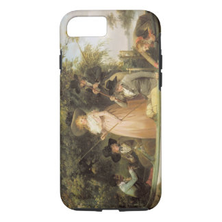 A Party Angling (oil on canvas) iPhone 8/7 Case