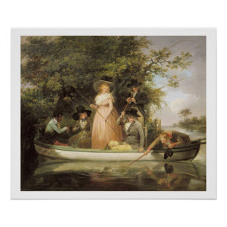 A Party Angling oil on canvas Print