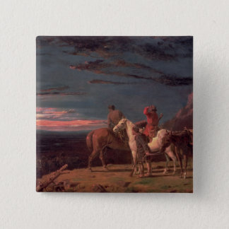 A Party of Explorers, 1851 (oil on canvas) 15 Cm Square Badge