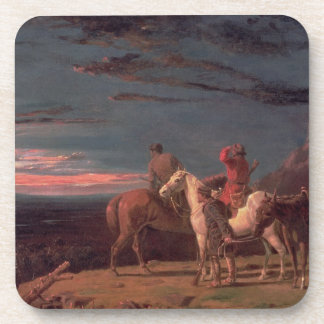 A Party of Explorers, 1851 (oil on canvas) Coaster
