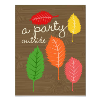 a party outside 11 cm x 14 cm invitation card