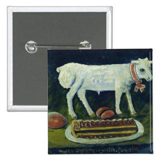 A paschal lamb, 1914 15 cm square badge